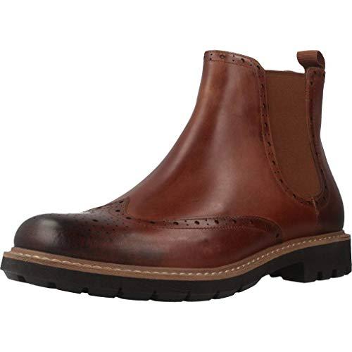 Clarks Herren Batcombe Top Chelsea Boots, Braun (Dark Tan Lea), 41 EU