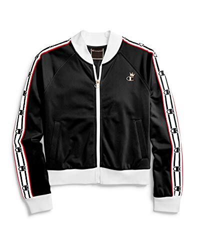 Champion LIFE Women's Track Jacket, Black/White/red Spark, S