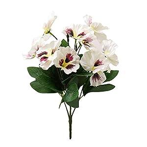 Silk Flower Arrangements 1Pc Artificial Flower Pansy Garden DIY Wedding Stage Office Room Craft Decoration White