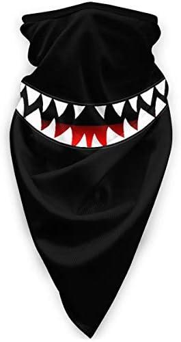 Tsugar Shark s Smile Teeth Windproof Face Mask Men Women Scarf Bandana for Outdoor Sports Black product image