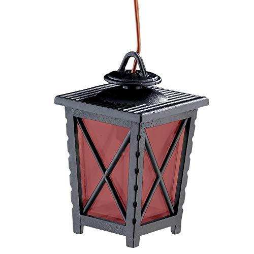 WITTKOWARE Krippen-/Puppenstuben-Beleuchtung, LED-Laterne 40mm rot, Kabel/Stecker, 3,5V
