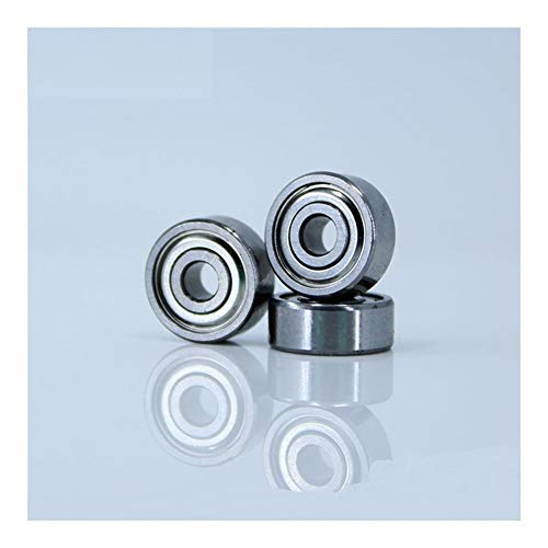 BAIJIAXIUSHANG Bearings for Stampante Desktop 3D Speciale Cuscinetto 624ZZ (10PCS) 4X13X5mm Muto Cuscinetti a Sfera 624 for Kossel Mini Prusa i3 Parts (Size : 440C Stainless Steel)