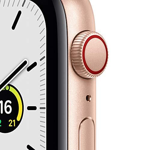 AppleWatch SE (GPS+ Cellular, 44mm) Aluminiumgehäuse Gold, Sportarmband Sandrosa