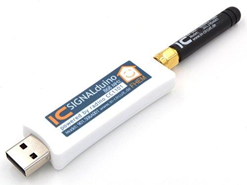 SIGNALduino Stick, Arduino Micro (Atmega 32U4) + CC1101 868MHz RF-Transceiver für FHEM