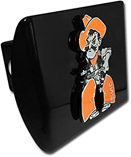 Oklahoma State OSU Pistol Pete Black Metal Trailer Hitch Cover Fits 2 Inch Auto Car Truck Receiver