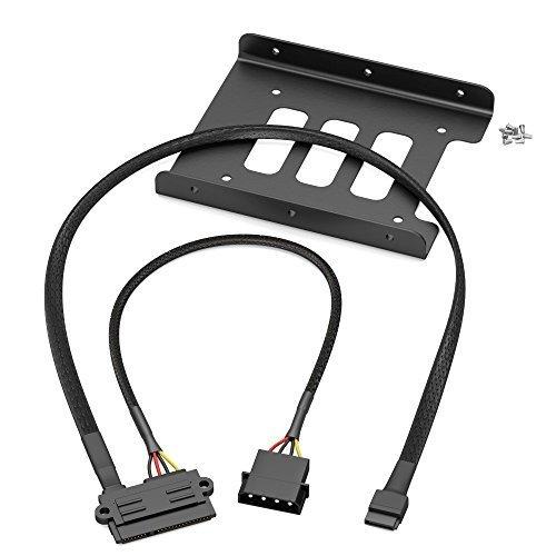 KabelDirekt - SSD/ HDD montageframe - (22-pin SATA connector op 4-pin Molex stroomkabel 30cm en 7-pin SATA 3 datakabel 6Gbit/s 60cm en 8x schroeven (kruiskop))
