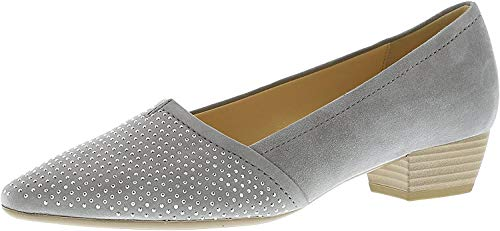Gabor Fashion Damenschuhe 45.134.19 Damen Pumps Ballerinas Leder (Wildleder) Grau (Stone), EU 40.5