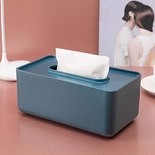 MeterMall Home For Nordic Style Tissue Box Paper Towel Holder for Home Table Decor Organizer Household Supplies Navy