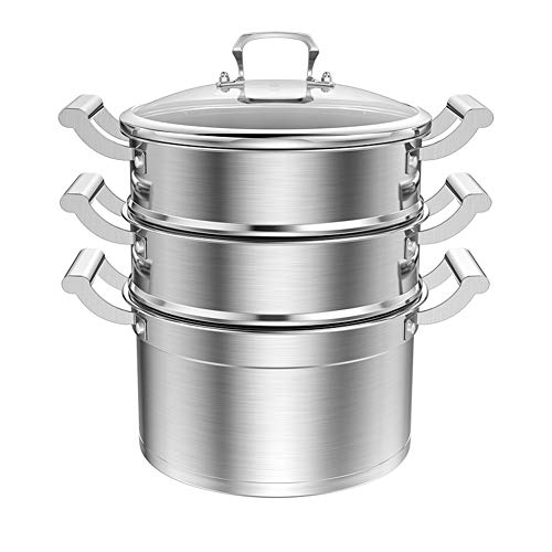 Amazing Deal 316 stainless steel large capacity steamer, vegetable food steam pot cover 3 anode indu...