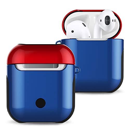 Desqueena Bolsa de Almacenamiento SyVarnished PC Bluetooth Auriculares Caso Anti-perdida for Apple AirPods 1/2,StarLightd