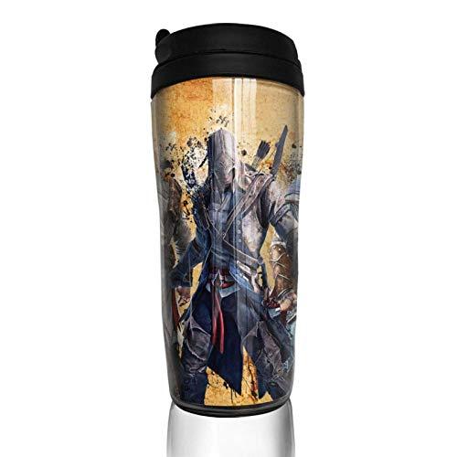 haiyou Sci-Fi Game A-ssassin C-Reed Taza de café de doble pared taza de vacío 14 oz botella aislada vasos portátiles tazas de viaje 350ml