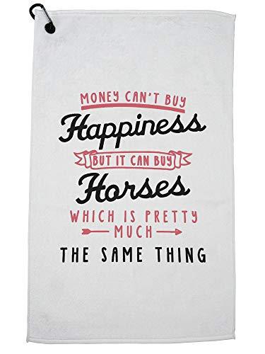 Hollywood-draadgeld kan geen geluk kopen, maar het kan paarden kopen - paardensporthanddoek met karabijnhaak