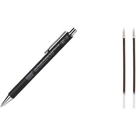 【セット買い】ニトムズSTALOGY 低粘度油性ボールペンS5110 ブラック & STALOGY ボールペン 替芯 低粘度油性 0.7mm ブラック 2本×3個セット S5115-3P