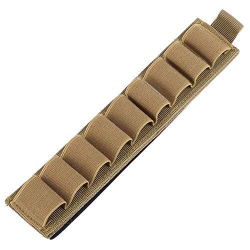 Yosoo Health Gear Soporte de Cartucho de Escopeta, 9 Rondas Soporte de Carcasa de Nylon Bolsa de munición Soporte de Escopeta Multifuncional Bolsa de Caza Molle con Tira Adhesiva