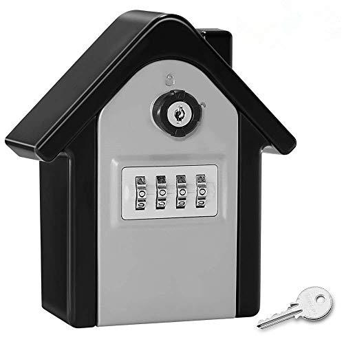 Caja de contraseña Caja de bloqueo de llaves de pared de 4 dígitos Caja de almacenamiento de llaves de combinación de 4 dígitos, utilizado para el agente inmobiliario en la habitación interior y al ai
