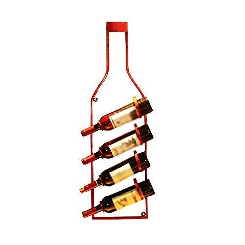 WJCCY Decoración Titular de la Botella de Vino de la Pared Vintage Estante de Vino Colgante de Pared hogar Restaurante Bar Colgante de Pared Barra de Loft (Color : A)