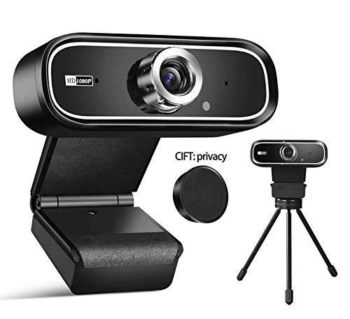 MOTECH PC Webcam : 1080P Full HD Webcam USB Desktop & Laptop Webcam Live Streaming Webcam with Microphone Widescreen HD Video Webcam 90-Degree Extended View for Video Calling (HD Webcam)