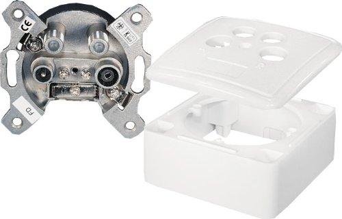 4-Fach SAT Antennendosen Stich- oder Enddose 2 dB