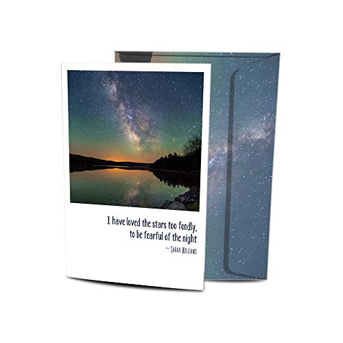 """Tree-Free Greetings Solstice Cards and Envelopes, Set of 10, 5 x 7"""", Loved The Stars (HB93384)"""