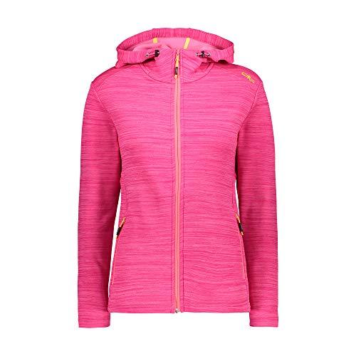 CMP Damen Fleece-Jacke FIX Hood - Power Stretch Qualität 30E9676, Farbe:Pink, Größe:42