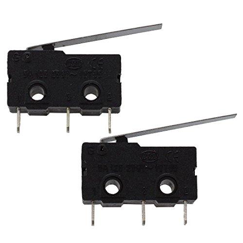 Huante 2pzs interruptor de limite Accion rapida SPDT Subminiatura Brazo de palanca larga