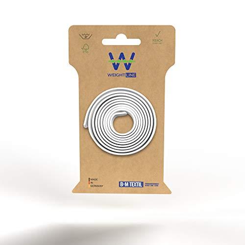 WEIGHTLINE Bleistreifen [1x 240g/140cm] - Bleiband für Gardinen Made in Germany - Vorhang Beschwerer für individuellen Faltenwurf - Bleigewichte Gardinenbeschwerer, Duschvorhang Beschwerer