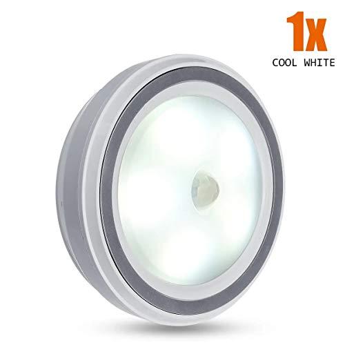5 LED Wireless PIR Auto Czujnik Motion Motion Night Light Cabinet Stair 1-10 sztuk Wysoka jakość (Color : Off White)