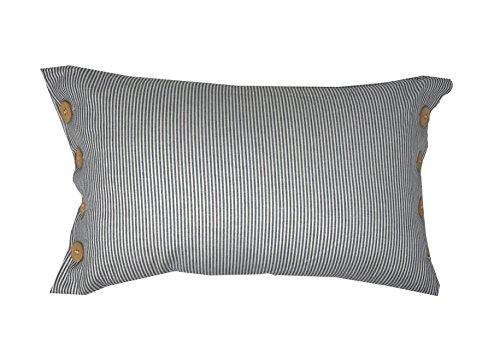Lancashire Textiles Yollu en Velours Bleu Sarcelle à Rayures 58 cm x 39 cm Boudoir Housse de Coussin Uniquement