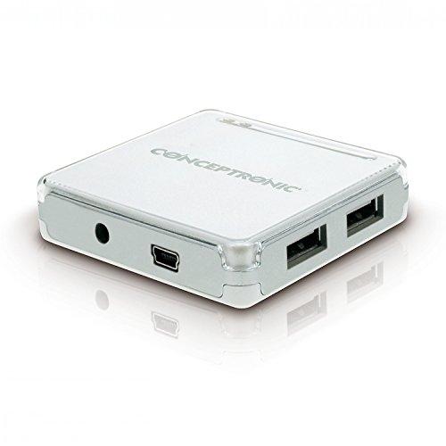 Conceptronic C05-131 Hub USB 2.0, 7 Puertos, con Fuente de alimentación