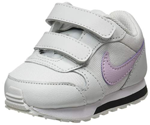 Nike Unisex-Baby MD Runner 2 (TDV) Sneaker, Photon Dust/Ice Lilac-Off Noir-White, 25 EU