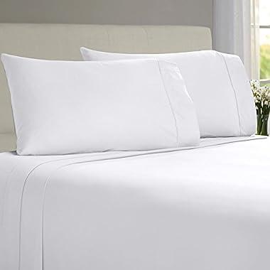 Linenwalas Luxury 100% Bamboo Sheets I Queen Bamboo Sheets I Softest Sheets I Blissfully Soft Bamboo (Queen, White)