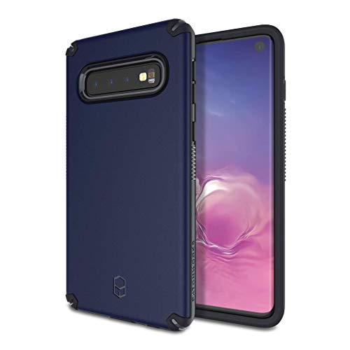 QNNEL hoes voor Galaxy S10 Navy kleur beschermende hoes Phone Case TPU Extreme Shockproof Corners Protection Händy Case Cover Extreem schokbestendig hoekbescherming LAR-841851