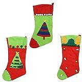 Holibanna 3 Piezas de Medias de Navidad con Árbol de Navidad Chimenea de Felpa Árbol de Navidad Medias Colgantes para Decoración Navideña Familiar Y Soporte de Regalo