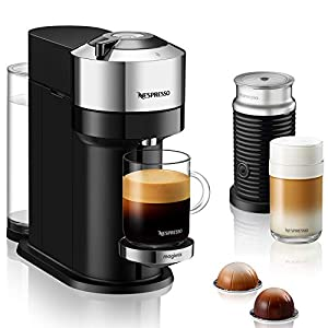 Nespresso Vertuo Next Deluxe, By Magimix | Coffee Capsule Machine With Aeroccino Milk Frother | Chrome | 11713