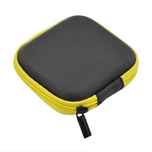 Linyena Custodia Protettiva Cuffie Disco Viaggi Borsa Interna di archiviazione per la Cuffia Auricolare Bluetooth Wired (Giallo)