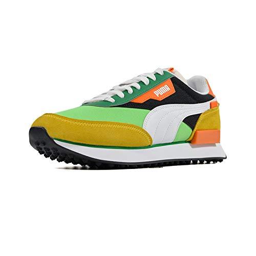 PUMA Future Zapatos Deportivos para Hombre en Ante Naranja y Verde 371149-30