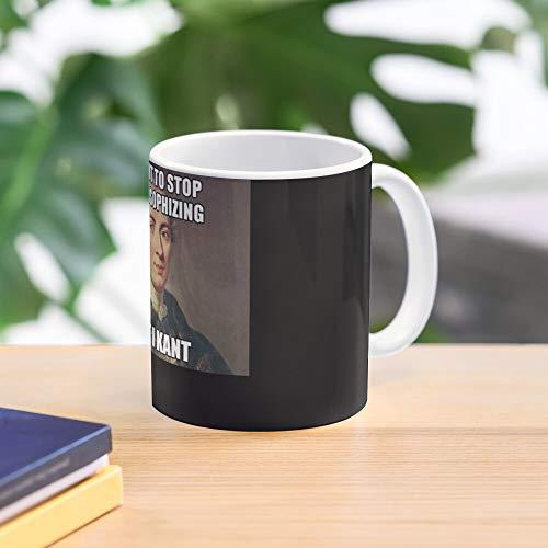 5TheWay Kant Meme Immanuel Funny Internet Philosophy Shirt T Best 11 oz Kaffeebecher - Nespresso Tassen Kaffee Motive