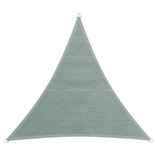 Windhager 10766 Capri Voile d'ombrage en Triangle 5 x 5 m (cuise) Protection Solaire pour Jardin et terrasse, résistant aux UV et aux intempéries Olive