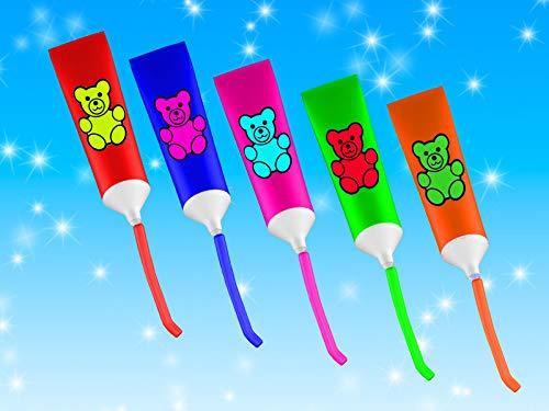 Farben lernen mit Zahnpasta