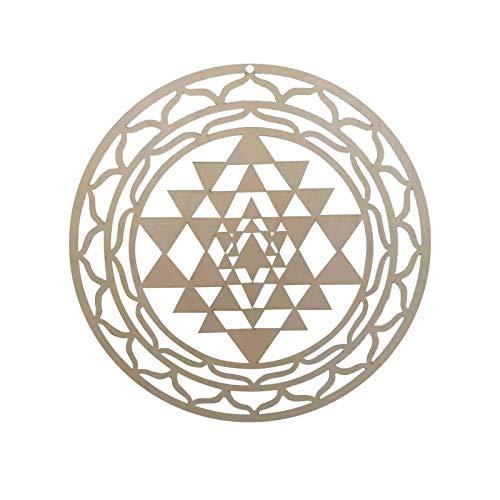 Decoración De Pared De Madera Sri Yantra, Mandala Geometría Sagrada Arte De...