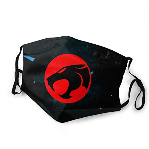 Thundercats Dust Face Cover Washable Mouth Guard with Replaceable Filter Activated Carbon Soft Guard Windproof Outdoor Bicycle/Cycling/Sports/Motor/Cycling Adults and Kids S
