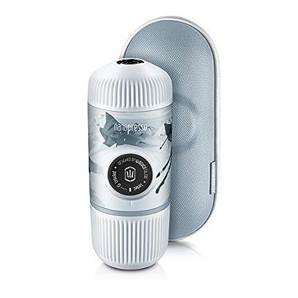 WACACO Nanopresso Cafetera Espresso Portátil Incluida con Estuche Protector, Versión Mejorada de Minipresso, 18 Bar de Presión, Cafetera de Viaje, Operada Manualmente (Nanopresso Journey Winter Ride)