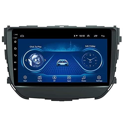 BIEKANNM Navegación Altavoz Audio Bluetooth Car Radio Player 9 Pulgadas - Aplicable para Suzuki BREZZA 2016-2018, Android 10 Car Multimedia Stereo GPS Auto Video Media FM,4 Core-WiFi: 2+32G