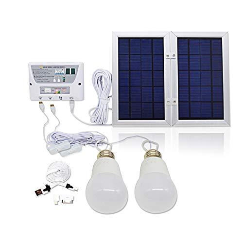 Luz del colgante al aire libre Kit Sistema Solar 5000mAh Luz colgante portable USB linterna/Teléfono de carga Bombilla LED tienda de campaña al aire libre Pesca de emergencia Luz para la decoración de