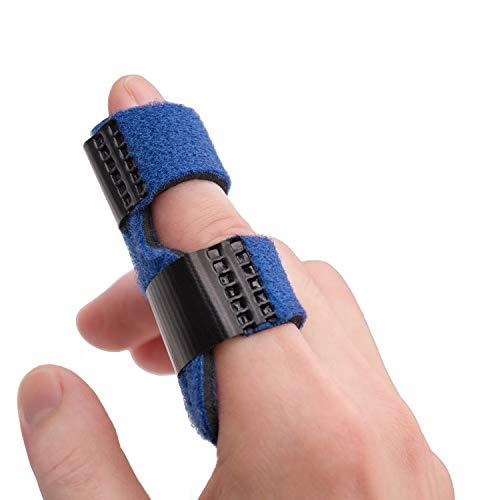 Sumifun Trigger Finger Splints, Index Finger Brace for Pointer Finger, Middle Finger, Ring Finger, Finger Knuckle Immobilization for Pain Relief, Sport Injuries, Basketball