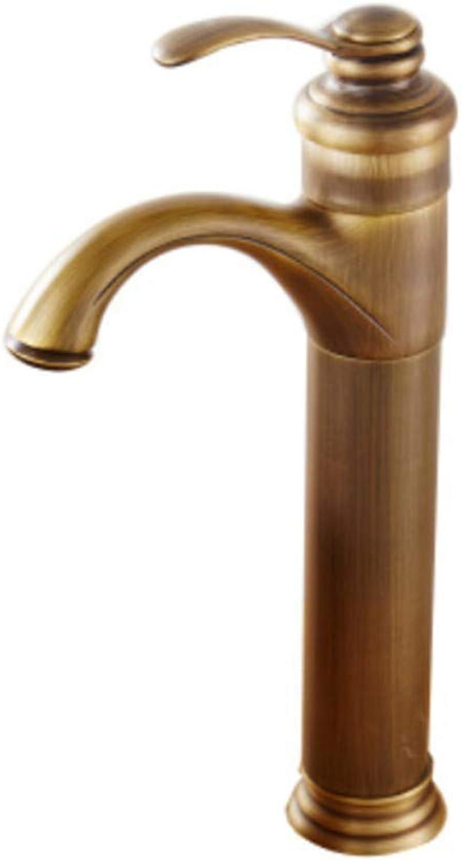 Basin Taps Swivel Spout Faucet Bronze Single Handle Faucet Bathroom Antique Brass High Faucet Mixer Tap for Washbasin