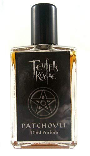 Teufelsküche Patchouli Natur, Parfum unisex, Gothic Parfum, Mini Flakon, 10ml Glasflakon, Gotik Patchouly