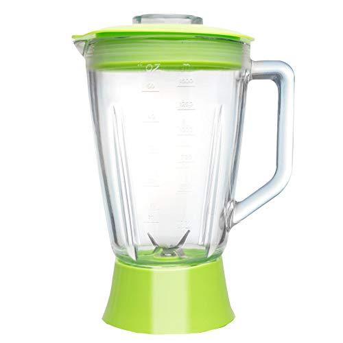 Ersatzglasbehälter Standmixer BG03 TurboTronic 1,5L Glasbehälter inkl. Deckel und Messereinsatz Mixeraufsatz Krug grün