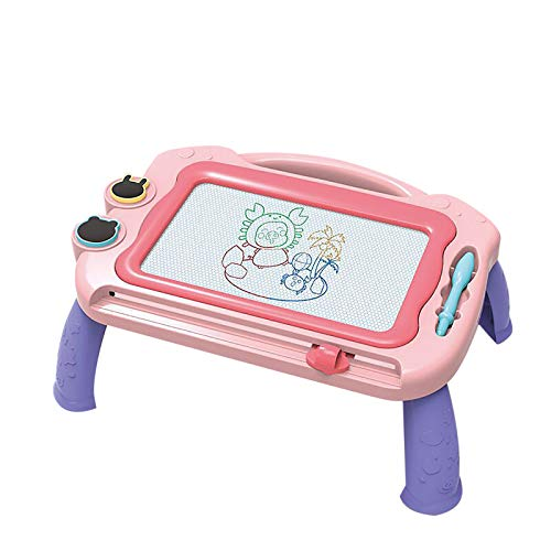 PMUYBHF Kids Magnetic Drawing Board with Holder Graffiti Painting Board Educational Toys (Pink)