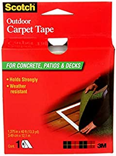 Scotch Outdoor Carpet Tape for Concrete, Patios & Decks, 1.3 inches x 13 yards, CT3010, 1 Roll